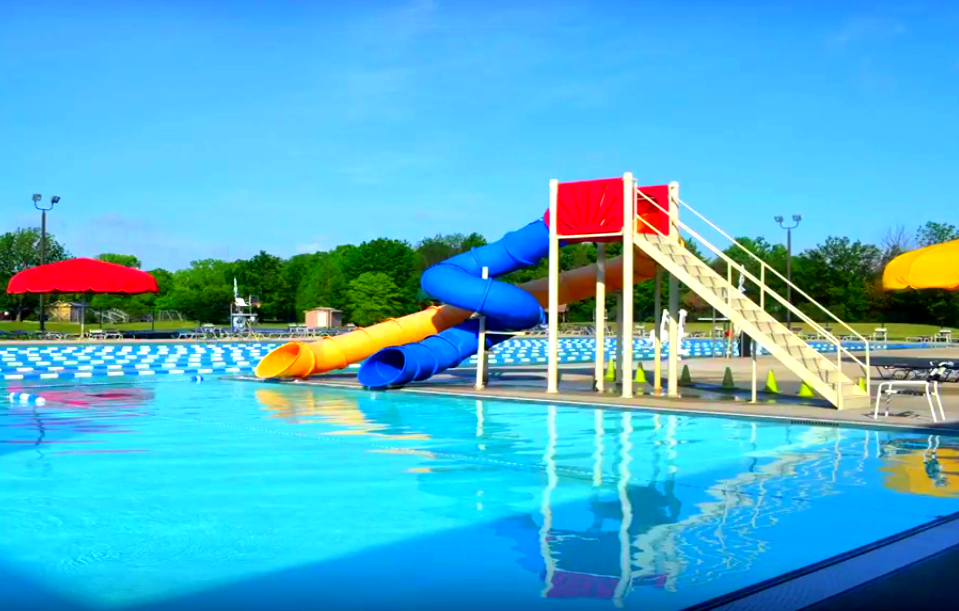 mariner outdoor pool slide