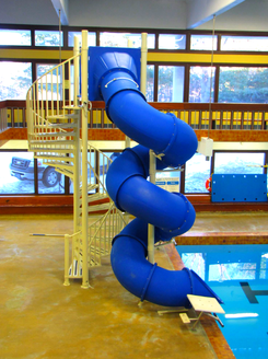 luxury indoor blue mariner slide