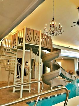 luxury mariner indoor custom water slide