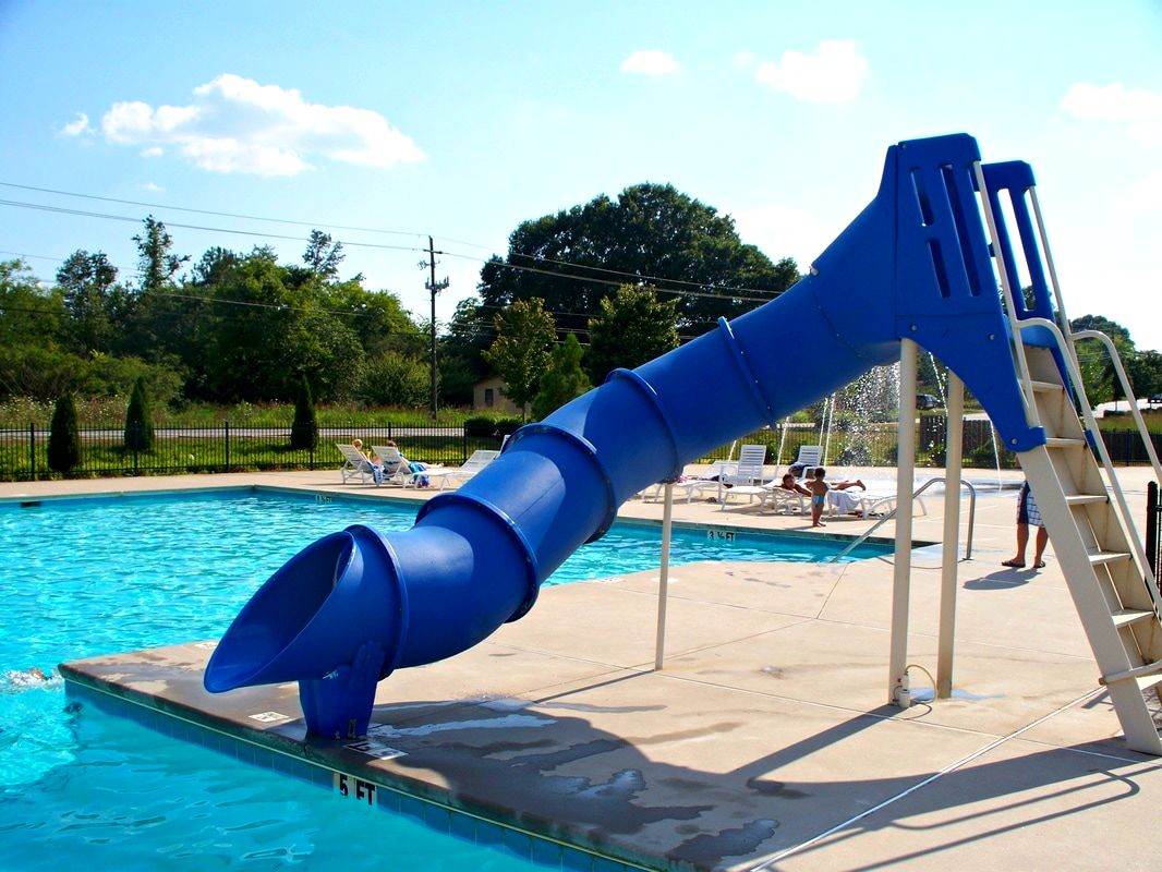 outdoor custom baker water slide
