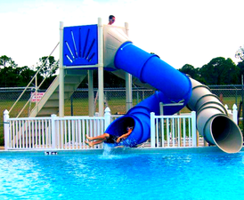 marine blue and grey water slide